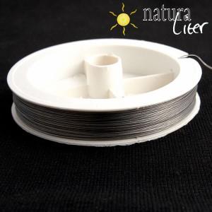 Ocelové lanko 0,45mm stříbrné - 5m