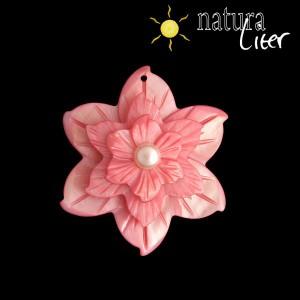 Perleťový květ velký 50mm růžový