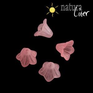 Akrylová květina - zvonek 14mm růžový, 4ks
