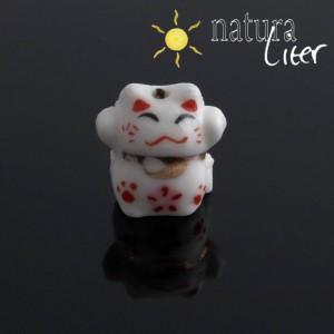 Porcelánový korálek - kočka, 2ks