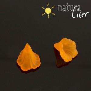 Akrylová květina - 16mm oranžová, 2ks