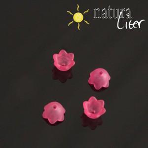 Akrylová květinka 10mm matná fuchsiová, 4ks