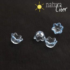 Akrylová květinka 10mm průhledná modrá, 4ks
