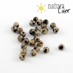 Jaspis dalmatin korálky, 4 mm, 6 ks