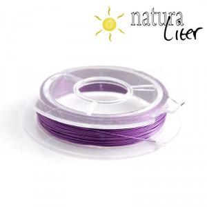 Lakovaný měděný drátek 0,3mm fialový - cívka 10m