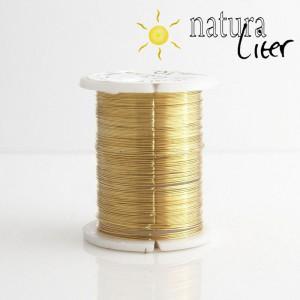 Mosazný drát 0,3mm, zlatá barva, 10m