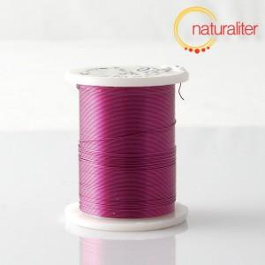 Mosazný drát 0,3mm, fialová barva, 10m