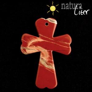 Jaspis - kříž přívěsek
