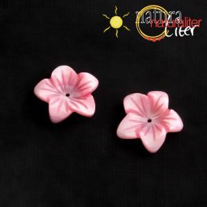 Perleťový květ 19mm růžový