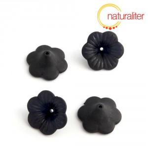 Květina akrylová - petunie 20mm černá, 4ks