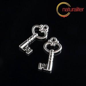 Výprodej - Klíč - akrylový přívěsek 26x13mm, 4ks