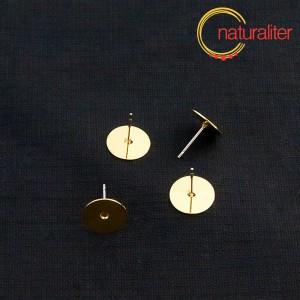 Výprodej - Puzeta s ploškou 10mm zlatá barva, 2ks