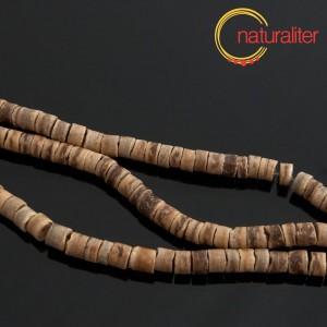 Korálky z kokosu přírodní, rondelka 5,5mm, návlek 59cm