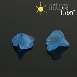 Akrylová květina - 16mm modrá, 2ks