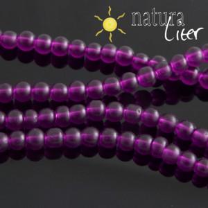 Matné skleněné korálky 4mm fialové, 20ks