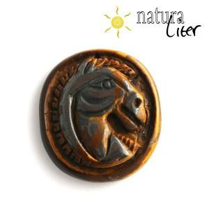 Tygří oko - přívěsek - kůň