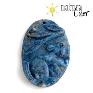 Lapis lazuli - přívěsek s plšíkem