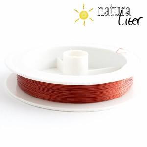 Ocelové lanko 0,3mm červené - 5m