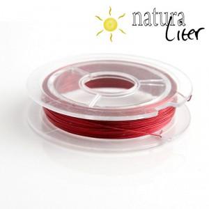 Lakovaný měděný drátek 0,3mm červený - cívka 10m