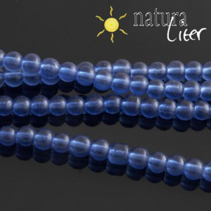 Matné skleněné korálky 4mm tmavě modré, 20ks