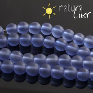 Matné skleněné korálky 8mm modré, 10ks