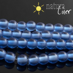 Skleněné korálky 8mm modré, 10ks