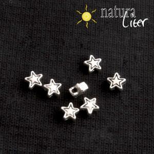 Korálek 4,5mm hvězdička starostříbro 10ks
