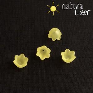 Výprodej - Akrylová květinka 10mm matná žlutá, 4ks