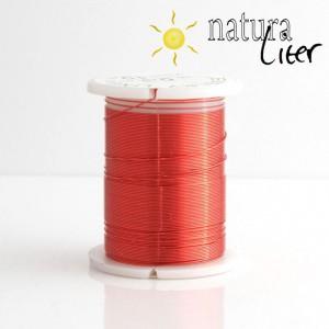 Mosazný drát 0,3mm, červená barva, 10m