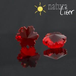 Květina - červený přívěsek ze skla