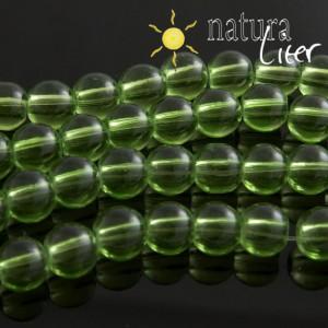 Skleněné korálky 8mm světle zelené, 10ks