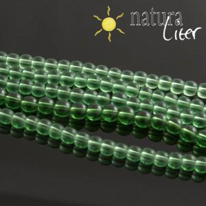 Skleněné korálky 4mm zelené, 20ks