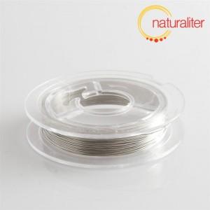 Lakovaný měděný drátek 0,3mm stříbrný - 10m