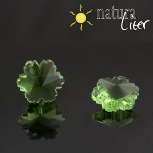 Květina - zelený přívěsek ze skla