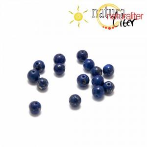 Lapis lazuli korálek, 4 mm, 2ks