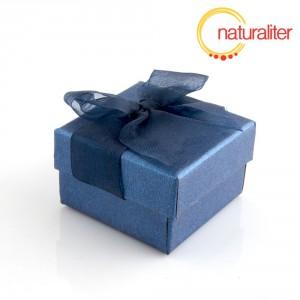 Dárková krabička 48x48x30mm, modrá