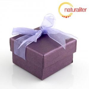 Dárková krabička 48x48x30mm, fialová