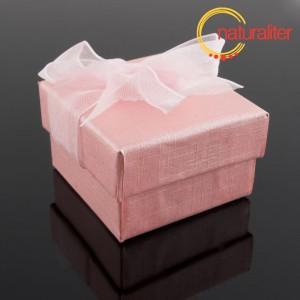 Výprodej - Dárková krabička 48x48x30mm, růžová