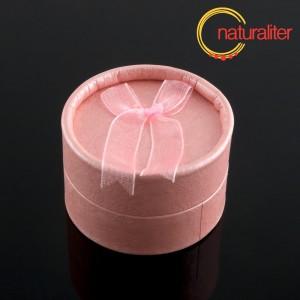 Výprodej - Dárková krabička kulatá, růžová