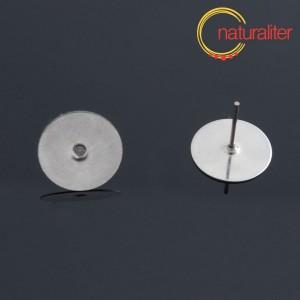 Výprodej - Puzeta s ploškou 12mm chirurgická ocel, 2ks
