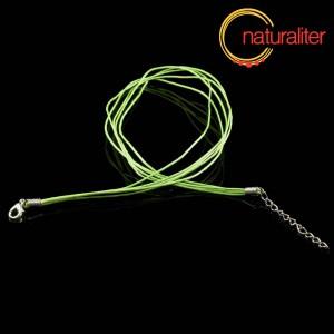 Náhrdelníková šňůrka - bavlna 47cm světle zelená