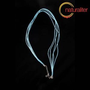 Náhrdelníková šňůrka - bavlna 47cm světle modrá