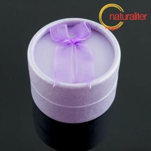 Výprodej - Dárková krabička kulatá, fialová