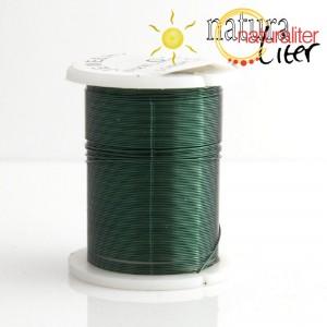 Mosazný drát 0,3mm, zelená barva, 10m