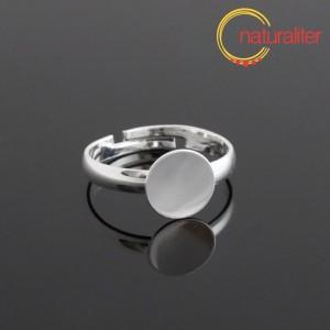 Základ na prsten s ploškou 9mm postříbřený