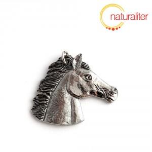 Kůň, hlava - přívěsek starostříbro 33x40mm