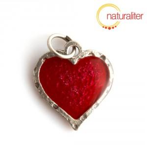 Srdce - přívěsek červený 22x20mm
