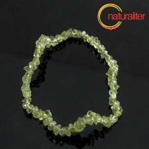 Olivín - zlomky, návlek 20cm / náramek