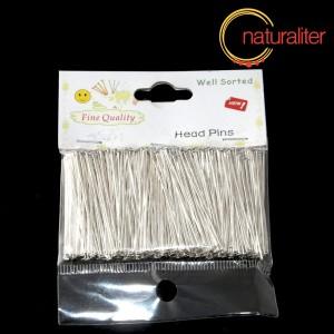Výprodej - Ketlovací nýty stříbrná barva 40x0,7mm, 300ks tříděné