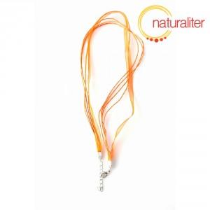 Náhrdelníková šňůrka - 48cm oranžová